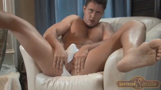 sexy country boy masturbates and fingers hole