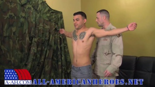 soldier fucks a latino bottom