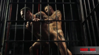 spanish hunks fuck in a cage