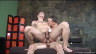 Hard college cock in his hole