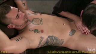 Straight Guy Zephyr Gets Massage Table Blowjob