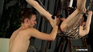 sling twink gets his hole stretched