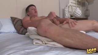 cute guy burton busting his load