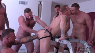 cock slut mason garet gets gang banged