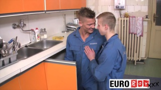 young plumbers fucking in kitchen