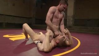 mega-hung wrestler fucks his opponent