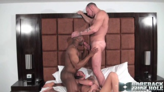 Champ Robinson, Randy Harden and Austin Dallas Barebacking