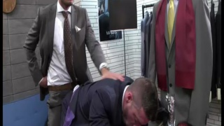 Adam Dacre Fucks Scott Hunter through his Suit Trousers