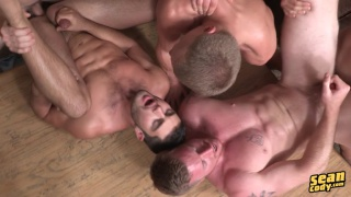 6 guys head to the mountains for a fuck getaway