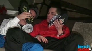 kinky french guys snorting sneakers