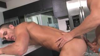 blond muscle hunk fucking muscle jock butt