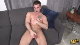 parker unloads his nuts on the couch
