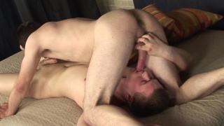 blond bottom gets a raw curved dick up his ass