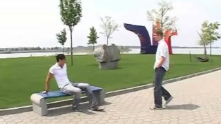 brad and eric hook-up in a park