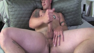 Handsome Marine Brian Beating Off