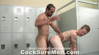 Pounding Hole in the Locker Room