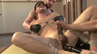 Tied Up James Riker Begs to Cum