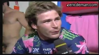 Blond French Athlete Caught in Locker Room