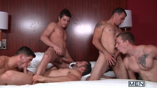 johnny rapid in middle of 5-guy orgy