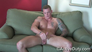 big blond hunk beating off