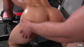 redhead fucks a huge butt