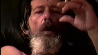 scraggly redneck smoking and masturbating