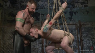 hairy hunk aleks buldocek trains a new slave
