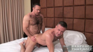 hairy hunk bare fucks a hung daddy