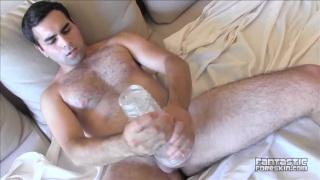 gabriel martin fleshjacking his uncut cock