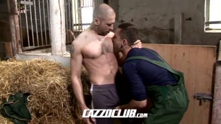 horny stud gets fucked in barn