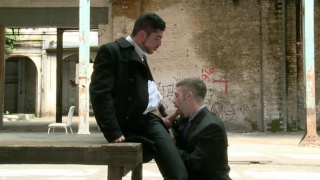Leo Domenico and Adam Wirthmore fuck in warehouse