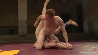 Damien Moreau & Liam Harkmoore wrestle nude then fuck