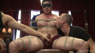 cock edging handsome bound hunk