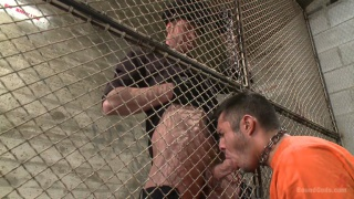 prisoner sucks the guards big dick