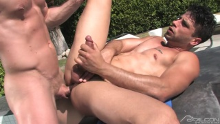Liam Magnuson fucks Ray Han by the pool