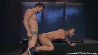 big-dicked stud stuffing a hot little butt