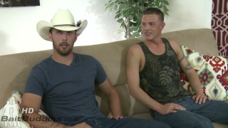 straight dude gets sucked off by cowboy