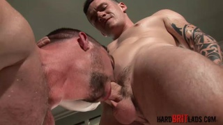 furry muscle power bottom gets a big cock
