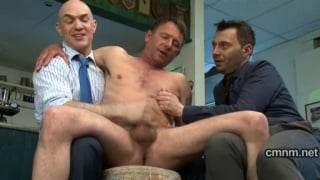 Ian gets worked over by guys in suits