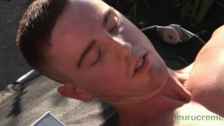 jp dubous jacking off outdoors at eurocreme