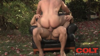 beefy hunks fucking in the woods