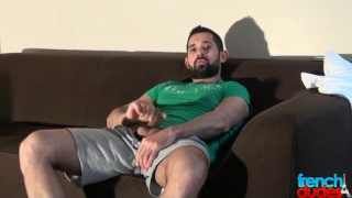 sexy bearded Billy Baval gets big dick serviced