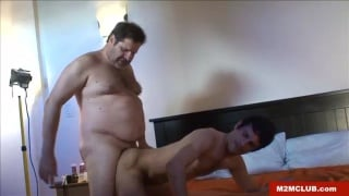 Bigger Bear fucks a hot bottom