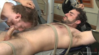 Loudmouth bodybuilder gets fat cock edged