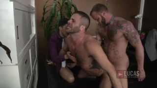 office hunks have a BB threeway