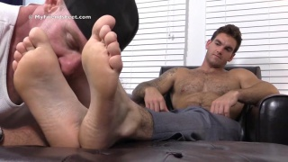 sexy hunk chase has perfect size 10 feet