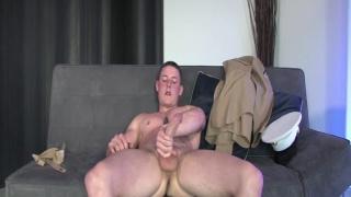 Hot Marine Beating Off
