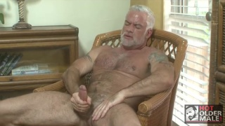 Silver Daddy Jake Marshall Beating Off
