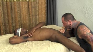 Blindfolded Black Stud Gets his Dick Ridden