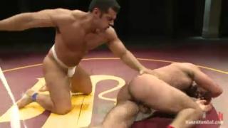 Marcus Ruhl & Ricky Larkin Wrestling in Stud